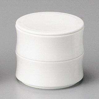 白反型蓋物2段 和食器 蓋物・段重 業務用 約8cm 和食 和風 和菓子 煮物 漬物 花見