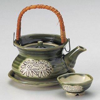 織部土瓶むし 和食器 土瓶むし 業務用 和食 和風 松茸料理 銀杏 吸い物 はも 秋メニュー 定番 おすすめ 料亭 日本料理