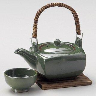 グリーン角形土瓶むし 和食器 土瓶むし 業務用 和食 和風 松茸料理 銀杏 吸い物 はも 秋メニュー 定番 おすすめ 料亭 日本料理