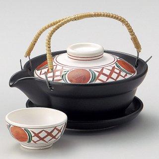 赤絵格子土瓶むし 和食器 土瓶むし 業務用 和食 和風 松茸料理 銀杏 吸い物 はも 秋メニュー 定番 おすすめ 料亭 日本料理