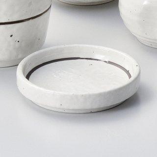 粉引ライン丸3.0薬味皿 和食器 そば徳利・そば猪口・薬味皿 業務用 約8.8cm そば 蕎麦 ソバ うどん そうめん やくみ