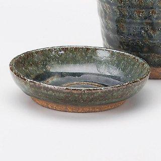 紺ビードロ薬味皿 和食器 そば徳利・そば猪口・薬味皿 業務用 約9.2cm そば 蕎麦 ソバ うどん そうめん やくみ 薬味 皿