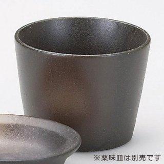 黒備前ソバ千代久 和食器 そば徳利・そば猪口・薬味皿 業務用 約8cm 約180cc そば 蕎麦 ソバ うどん そうめん