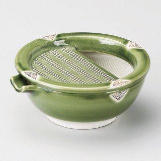 織部格子おろし皿 和食器 オロシ皿 業務用