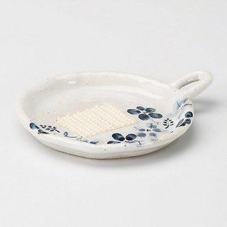 藍の花おろし 小 和食器 オロシ皿 業務用