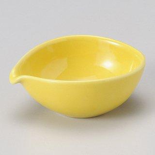 黄釉片口楕円小鉢 和食器 ドレッシング 業務用
