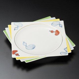 六瓢箪千代折角大皿 和食器 角皿(中) 業務用 約24.5cm 和食 和風 和皿 高級 お造り 揚げ物