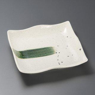 いなか道9寸正角皿 和食器 角皿(中) 業務用 約23.5cm 和食 和風 和皿 中皿 揚げ物 串物 刺身