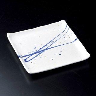 ゴス吹正角皿 和食器 角皿(中) 業務用 約24cm 和食 和風 和皿 高級 お造り 揚げ物