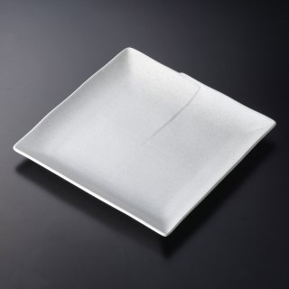 粉引はんてん8.0角皿 和食器 角皿(中) 業務用 約23cm 和食 和風 和皿 中皿 揚げ物 串物 刺身