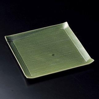 織部コヨリ大皿 和食器 角皿(中) 業務用 約24.5cm 和食 和風 和皿 中皿 揚げ物 串物 刺身 旅館