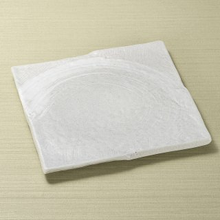 ゴーカイ白 大 正角皿 和食器 角皿(中) 業務用 約24cm 和食 和風 和皿 高級 お造り 揚げ物