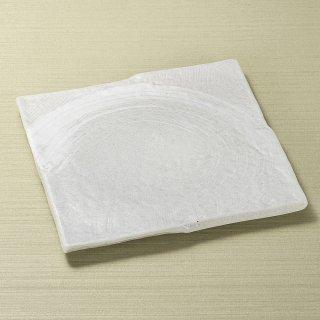 ゴーカイ白 小 正角皿 和食器 角皿(中) 業務用 約19.2cm 和食 和風 和皿 中皿 揚げ物 串物 刺身