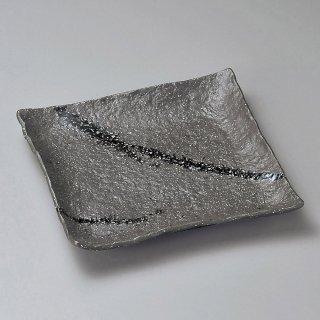 彗星石目7.0正角皿 和食器 角皿(中) 業務用 約22cm 和食 和風 和皿 中皿 揚げ物 串物 刺身 旅館