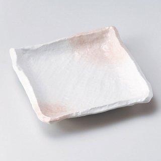 春がすみ匠角皿 小 和食器 角皿(中) 業務用 約19.3cm 和食 和風 和皿 中皿 揚げ物 串物 刺身
