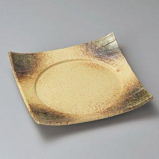 伊賀織部6.0四方皿 和食器 角皿(中) 業務用 約18cm 和食 和風 和皿 中皿 揚げ物 串物 刺身 旅館