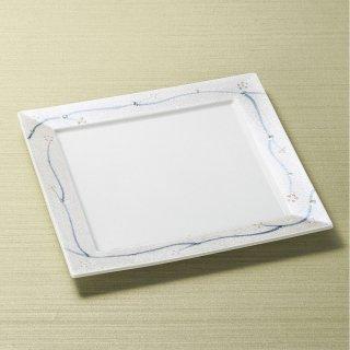 ラスターつる草24cm正角皿 和食器 角皿(中) 業務用 約24cm 和食 和風 和皿 高級 お造り 揚げ物
