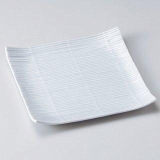スダレ青磁正角皿 和食器 角皿(中) 業務用 約18.3cm 和食 和風 和皿 中皿 揚げ物 串物 刺身 旅館