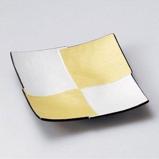 二色千段四ツ重ね皿 和食器 角皿(中) 業務用 約18.8cm 和食 和風 和皿 高級 お造り 揚げ物