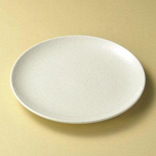 美濃粉引白26cm皿 和食器 丸皿(大) 業務用 約26cm 和食 和風 ランチ とんかつ定食 主菜
