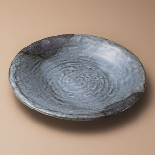 山がすみ石目9.0皿 和食器 丸皿(大) 業務用 約27.8cm 和食 和風 ランチ とんかつ定食 主菜