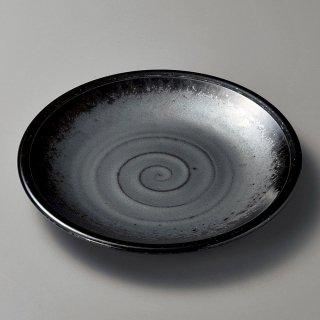 黒真珠8.5平皿 和食器 丸皿(大) 業務用 約26.8cm 和食 和風 ランチ とんかつ定食 主菜