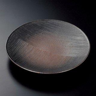 備前くし目9.5皿 和食器 丸皿(大) 業務用 約29cm 和食 和風 ランチ とんかつ定食 主菜