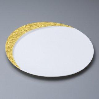 ゴールドムーン27cm皿 和食器 丸皿(大) 業務用 約27.5cm 和食 和風 ランチ とんかつ定食 主菜