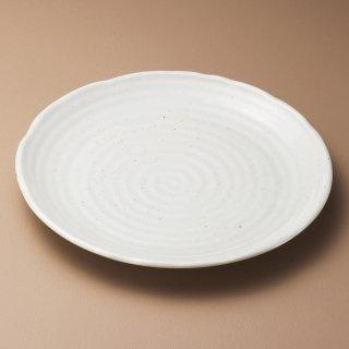 粉引釉9.7大皿 和食器 丸皿(大) 業務用 約29.5cm 和食 和風 ランチ とんかつ定食 主菜