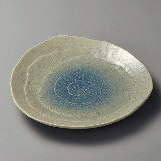コロナ三角9.0皿 和食器 丸皿(大) 業務用 約27cm 和食 和風 ランチ とんかつ定食 主菜