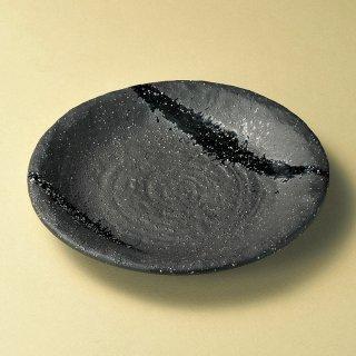 彗星石目8.0皿 和食器 丸皿(大) 業務用 約25cm 和食 和風 ランチ とんかつ定食 主菜