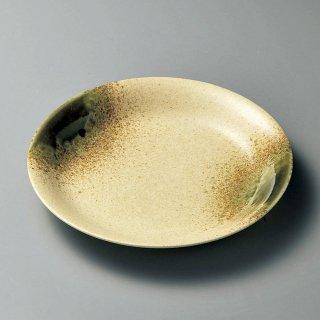 伊賀織部パスタ皿 和食器 丸皿(大) 業務用 約26.3cm 和食 和風 ランチ とんかつ定食 主菜