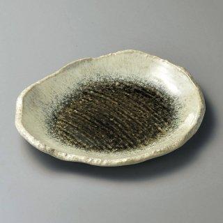 織部かすみ変形9.0皿 和食器 丸皿(大) 業務用 約28.1cm 和食 和風 ランチ とんかつ定食 主菜