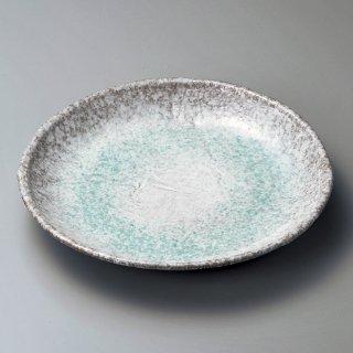 青釉9号丸皿 萬古焼 和食器 丸皿(大) 業務用 約27cm 和食 和風 ランチ とんかつ定食 主菜