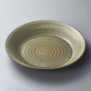 古窯9.0皿鉢 信楽焼 和食器 丸皿(大) 業務用 約27cm 和食 和風 ランチ とんかつ定食 主菜