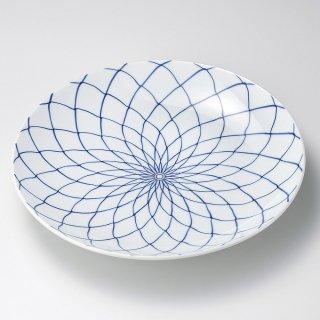 手描網9号皿 有田焼 和食器 丸皿(大) 業務用 約27cm 和食 和風 ランチ とんかつ定食 主菜