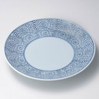タコ唐草9号皿 有田焼 和食器 丸皿(大) 業務用 約28cm 和食 和風 ランチ とんかつ定食 主菜