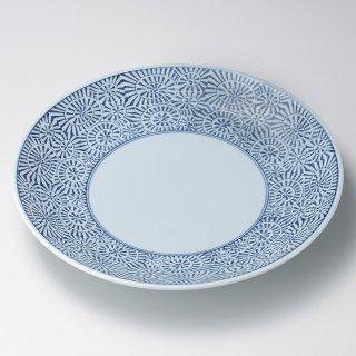 タコ唐草8号皿 有田焼 和食器 丸皿(大) 業務用 約25cm 和食 和風 ランチ とんかつ定食 主菜