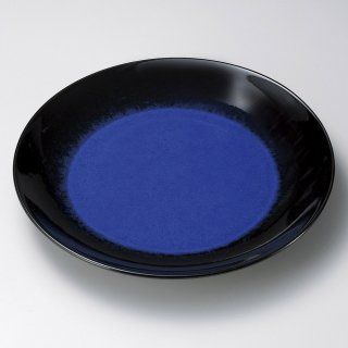 ルリ天目9号皿 有田焼 和食器 丸皿(大) 業務用 約27.5cm 和食 和風 ランチ とんかつ定食 主菜