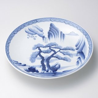 山水9号皿 有田焼 和食器 丸皿(大) 業務用 約27cm 和食 和風 ランチ とんかつ定食 主菜