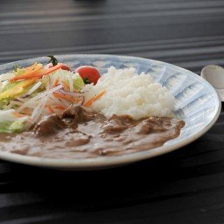 しのぎ型青刷毛目 8.0皿 和食器 丸皿(中) 業務用 約24.6cm 和食 和風 中皿 主菜 定食