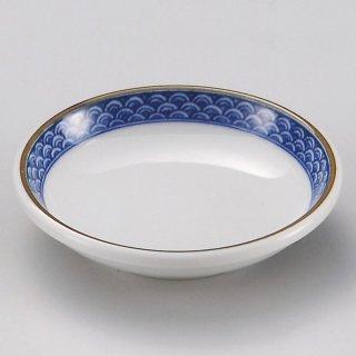 渕青海波玉3.0皿 和食器 小皿 業務用 約9.5cm 和食 和風 漬物 たれ 薬味 サラダ 和菓子 冷奴 ミニ しょうゆ皿