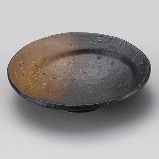 黒備前吹き月光9cm丸皿 和食器 小皿 業務用 約9.2cm 和食 和風 漬物 たれ 薬味 サラダ 和菓子 冷奴 ミニ