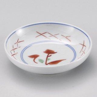 赤絵花筋3寸皿 和食器 小皿 業務用 約9.2cm 和食 和風 漬物 たれ 薬味 サラダ 和菓子 冷奴 ミニ しょうゆ皿
