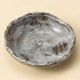 梅花皮 黒たたら3.0皿 和食器 小皿 業務用 約10.5cm 和食 和風 漬物 たれ 薬味 サラダ 和菓子 冷奴 ミニ