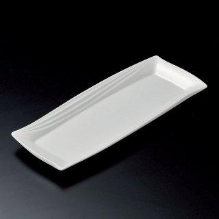 白釉レガンス42cm長皿 白い器 和食器 細長皿(大) 業務用 約42cm 和食 和風 刺身 寿司 焼き物