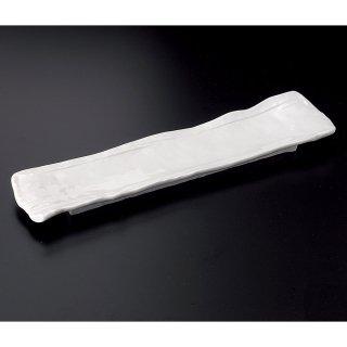 白釉尺3寸長皿 白い器 和食器 細長皿(大) 業務用 約41cm 和食 和風 刺身 寿司 焼き物 串物