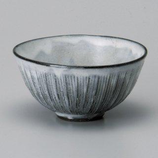 黒土粉引串目大平 和食器 飯碗 業務用 約12cm 和食 和風 茶碗 ご飯茶碗 男性用