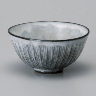 黒土粉引串目中平 和食器 飯碗 業務用 約11.4cm 和食 和風 茶碗 ご飯茶碗 一般 標準