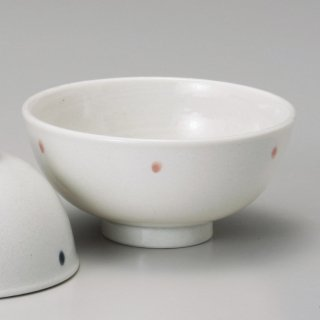 ドット ピンク軽量茶碗 和食器 飯碗 業務用 約11.5cm 和食 和風 茶碗 ご飯茶碗